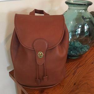 Vintage Coach Backpack 9943 British Tan
